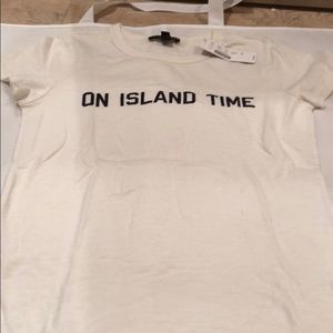 J Crew Tee Shirt On Island Time xs NWT